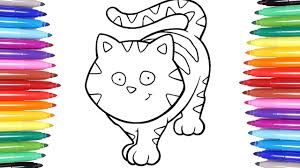 animals coloring pages learn how to color a cat colouring