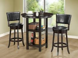 small high kitchen table small high top round kitchen table with storage and shelves for