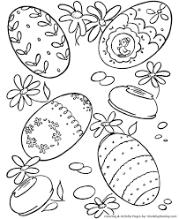 easter egg coloring pages lots easter eggs coloring sheet