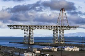 shipbuilding crane at hunters point naval shipyard san francisco