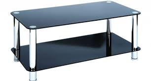 Black Glass Coffee Table Coffe Table Mid Century Modern Black Glass Chrome Coffee Table