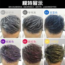 gray hair dye mens stained white colored wax gray styling color