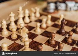 old wooden chess board u2014 stock photo viktoriasapata 156633542