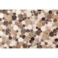 pebble tile natural stone tile the home depot daltile fashion accents tiles brown pebble 12 x 12 decorative