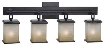 asian themed 4 light bathroom fixture from plateau collection from