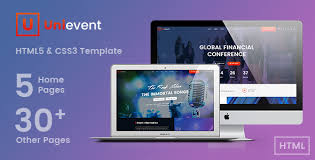 unievent event u0026 conference html template by univertemp