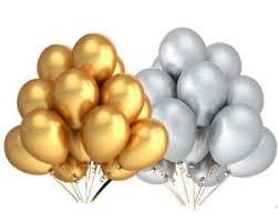 metallic balloons 15 pack 9 gold silver metallic balloons birthday wedding party