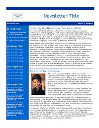 email newsletter template download free documents for pdf word