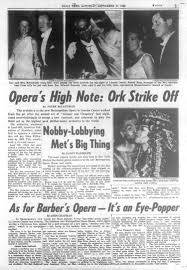 metropolitan opera house opens drawing socialites in 1966 ny