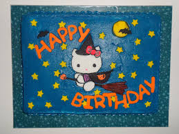 hello kitty halloween cake cakecentral com