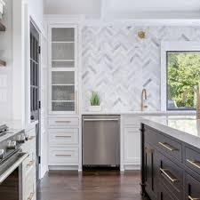 kitchen backsplash ideas with white cabinets houzz 75 beautiful transitional kitchen with gray backsplash