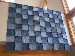 a handmade life denim raggy quilt