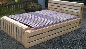 How To Make A King Size Platform Bed With Pallets by Diy Pallet Bed Frame Photo 20 Brilliant Wooden Pallet Bed Frame