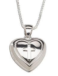 communion jewelry girl s sterling silver communion cross heart