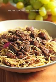 Pasta Sausage Angel Hair Pasta With Italian Sausage Mushrooms U0026 Herbs