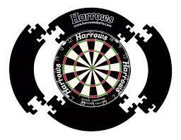 harrows 4 piece dartboard surround protector black 70cm amazon