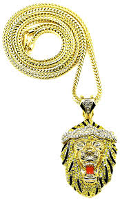 new pendant necklace images Lion necklace new iced out in silver and yellow color jpg