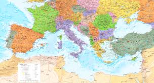 mediterranean map large detailed map of mediterranean sea with cities