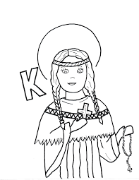 k is for st kateri tekakwitha saints to color