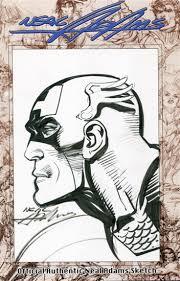neal adams official authentic sketch captain america da card world