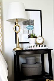 Nate Berkus Furniture Guestroom Revamp Bedside Table Gold Lamp U0026 Clock Succulent