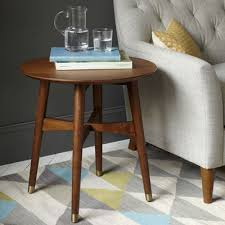 west elm reeve coffee table reeve midcentury style walnut coffee table and side table range at