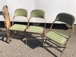 Vintage Outdoor Folding Chairs Job Lot Retro Vintage Industrial Look Interlocking Folding Chair