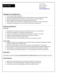 Accounting Student Resume Examples sample entry level accounting resume no experience resume for
