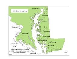 State Of Maryland Map by Map No 5 Of Striped Bass Regulations