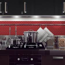 decor peel and stick mosaic tile backsplash with white kitchen