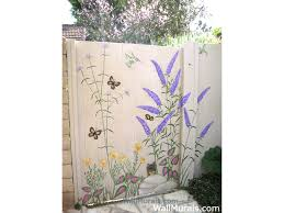 Garden Mural Ideas Outside Wall Murals Outdoor Mural Exleswall Murals By Colette