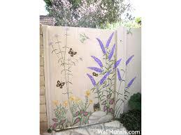 Garden Mural Ideas Outside Wall Murals Outdoor Mural Exleswall Murals By Colette