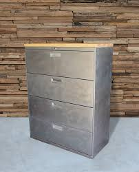 Industrial File Cabinet Refinished 3 Drawer Pedestal Metal Filing Cabinet W W O