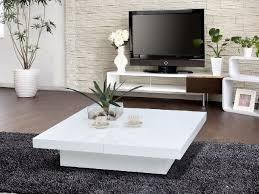 Living Rooms Without Coffee Tables White Lacquer Coffee Table Storage Dans Design Magz Modern