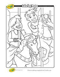 carousel coloring page carousel coloring page with carousel