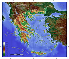 Greek Map Greece Topo U2022 Mapsof Net