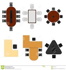 apartment floor plan with furniture top view vector stock vector