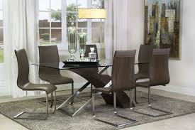 Mor Furniture For Less Seattle by Mor Furniture For Less The Bentwood Glass Dining Table Mor