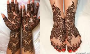 matching and mehndi designs for brides