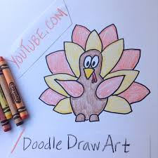 drawing tutorial easy turkey draw drawing