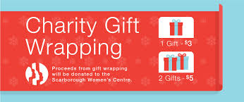 charity gift wrapping woodside square