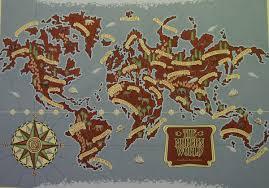 Image Of World Map Lyra U0027s World His Dark Materials Fandom Powered By Wikia