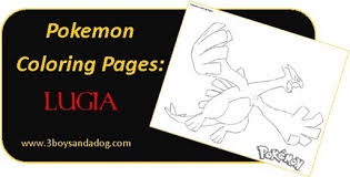 lugia pokemon coloring pages for boys u2013 3 boys and a dog