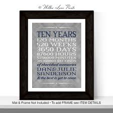 10 year anniversary gift for 10 year anniversary gift for men women custom gift for