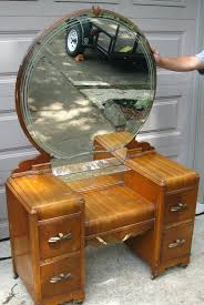 Vintage Vanity Table with Antique Dressing Table With Round Mirror Starrkingschool