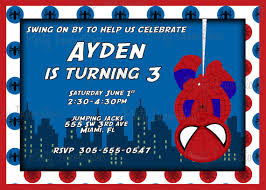 printable spider man birthday party invitation plus free