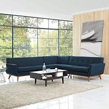 engage l shaped sectional sofa in azure lexmod