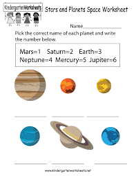stars and planets space worksheet free kindergarten learning