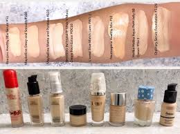 light coverage foundation drugstore pale foundation mega swatch review and comparison ǀ light to medium