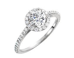 cubic zirconia halo engagement rings cz halo ring etsy